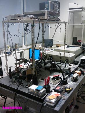Expérience pompe sonde femtoseconde